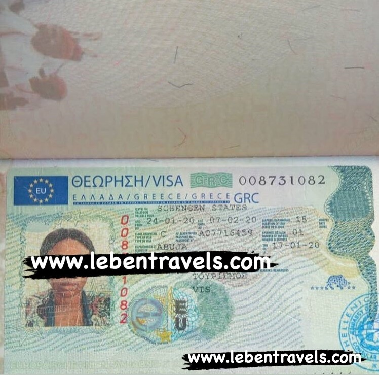 SCHENGEN - GREECE TOURIST VISA