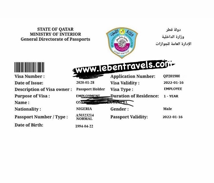 QATAR 2 YEARS EMPLOYMENT VISA