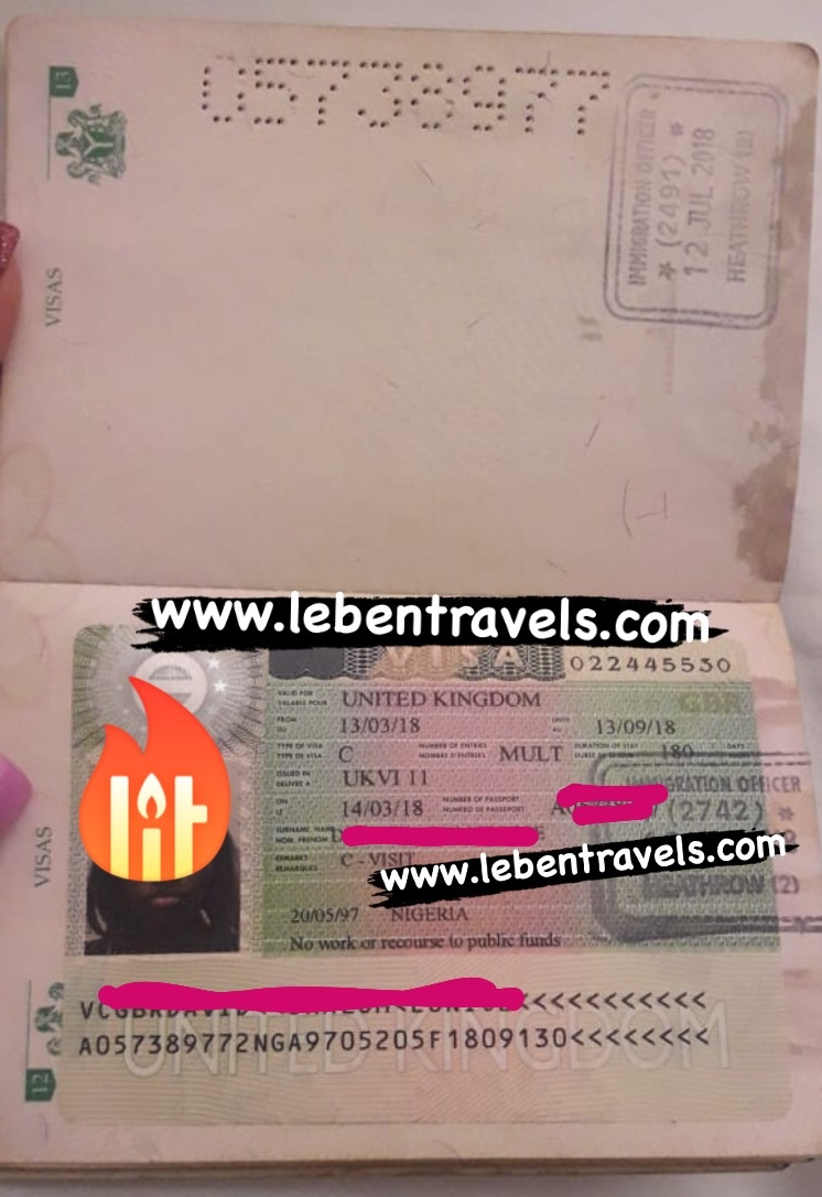 UK TOURIST - 6 MONTHS MULTI ENTRY VISA