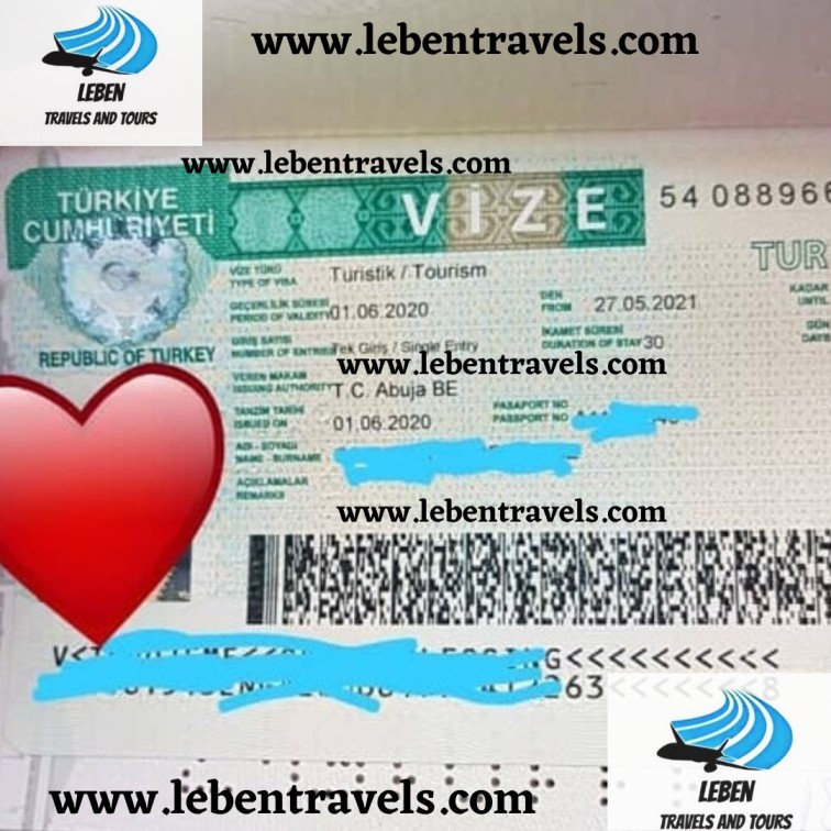 TURKEY TOURIST/VISIT VISA - SINGLE ENTRY, 1 YEAR VISA